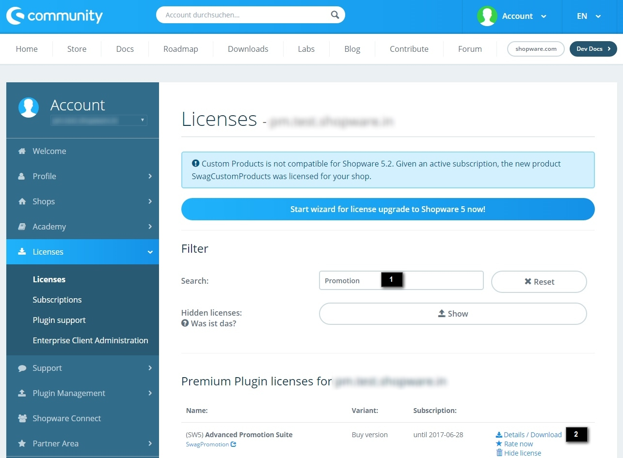 The Shopware License Manager