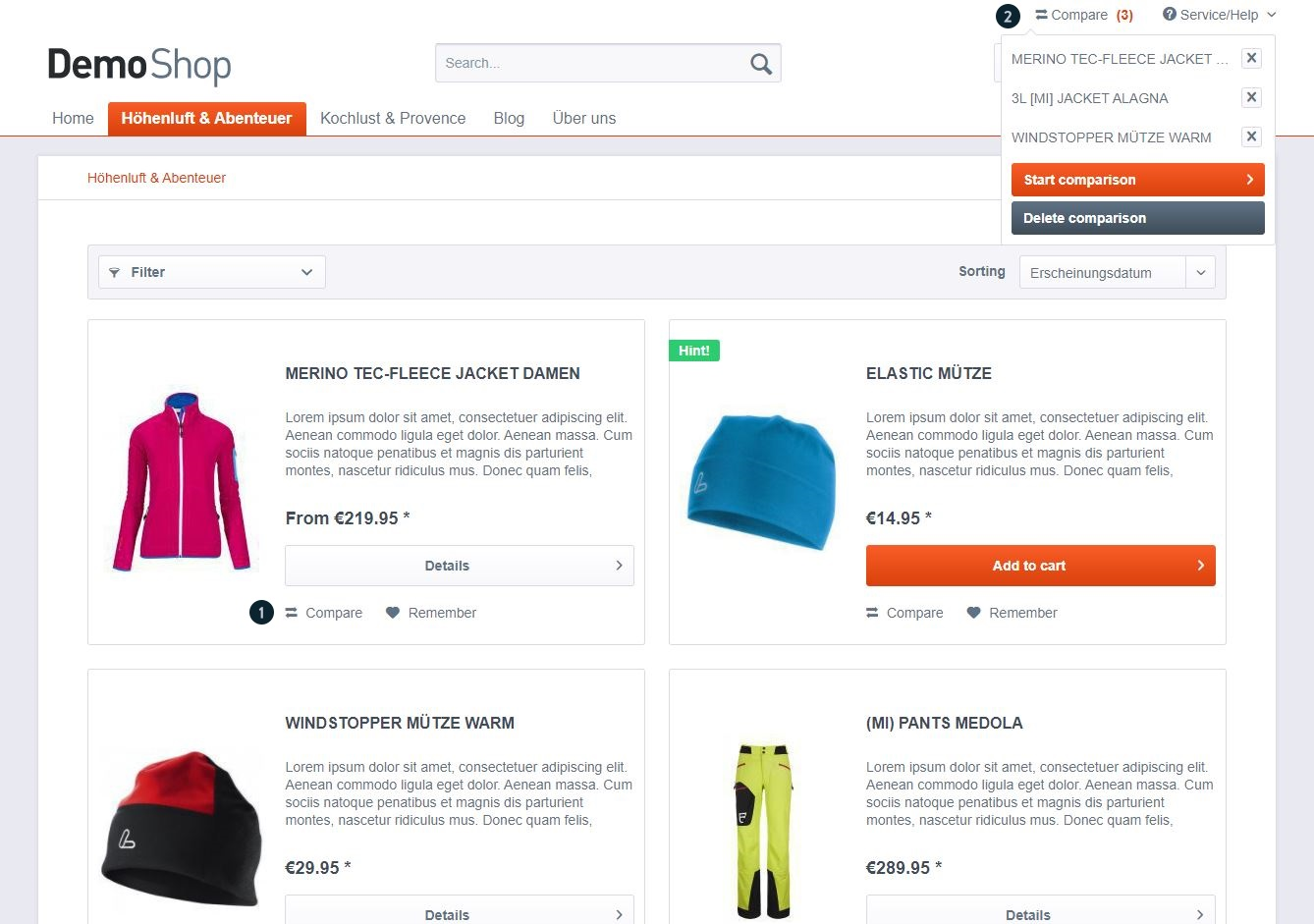 Shopware 5 - Products & Categories - Basic configuration