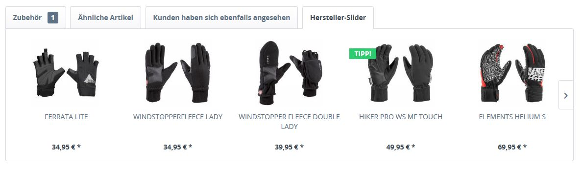 Shopware 5 Produkte & Kategorien Cross Selling