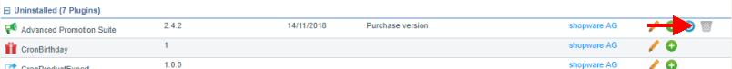 Delete shopware plugin completly